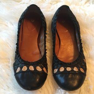 ⭐️Anthropologie Leifsdottir Leather Flats Black 7